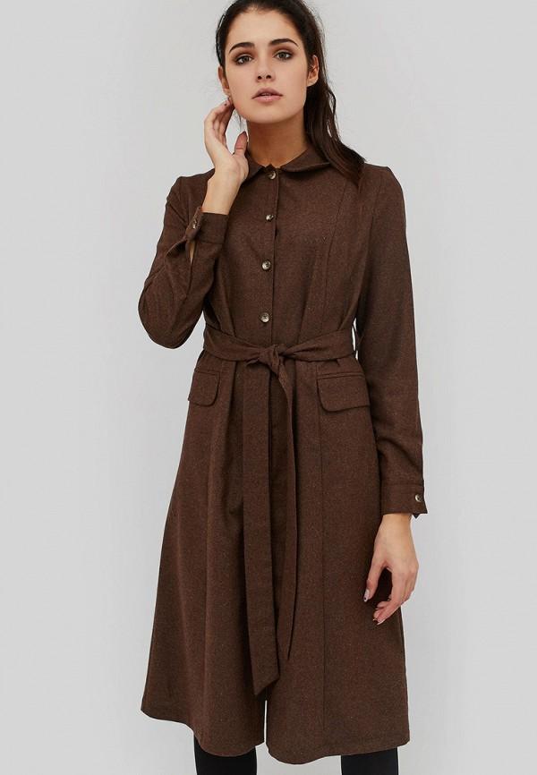 женское платье cardo, коричневое