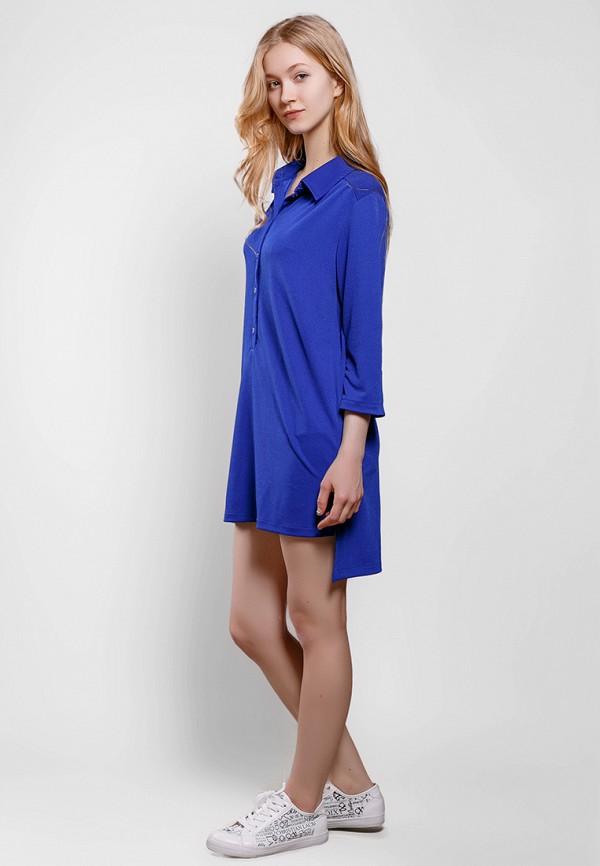 Фото 2 - Женское платье SFN синего цвета