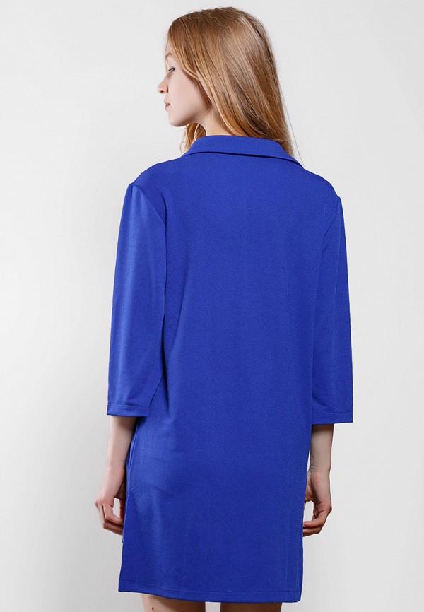 Фото 3 - Женское платье SFN синего цвета