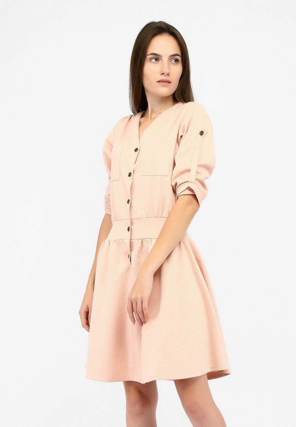 женское повседневные платье sfn, розовое