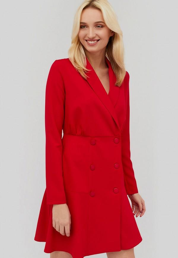 женское повседневные платье cardo, красное