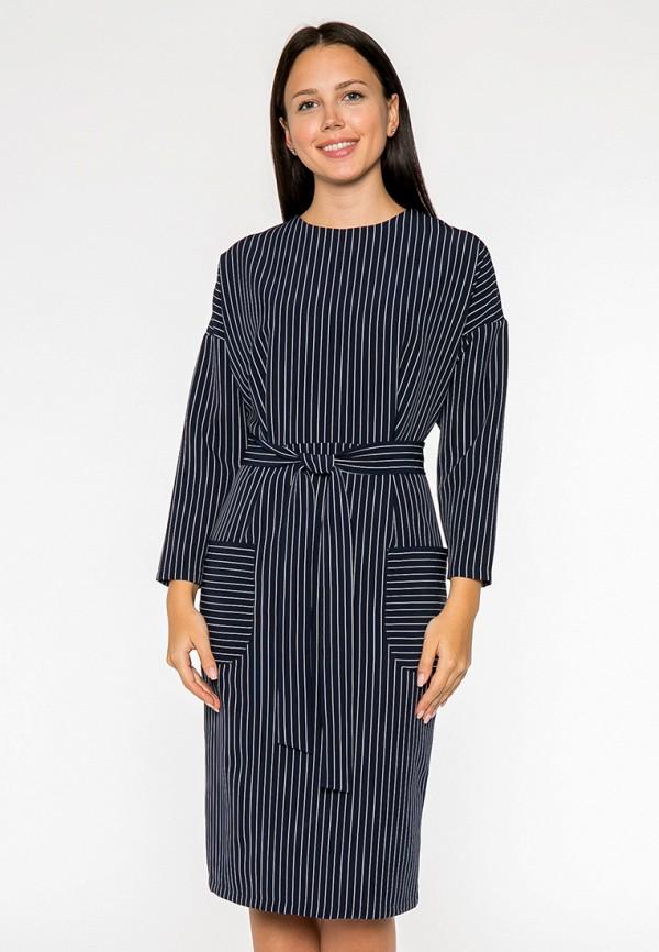 женское платье миди mankato, синее