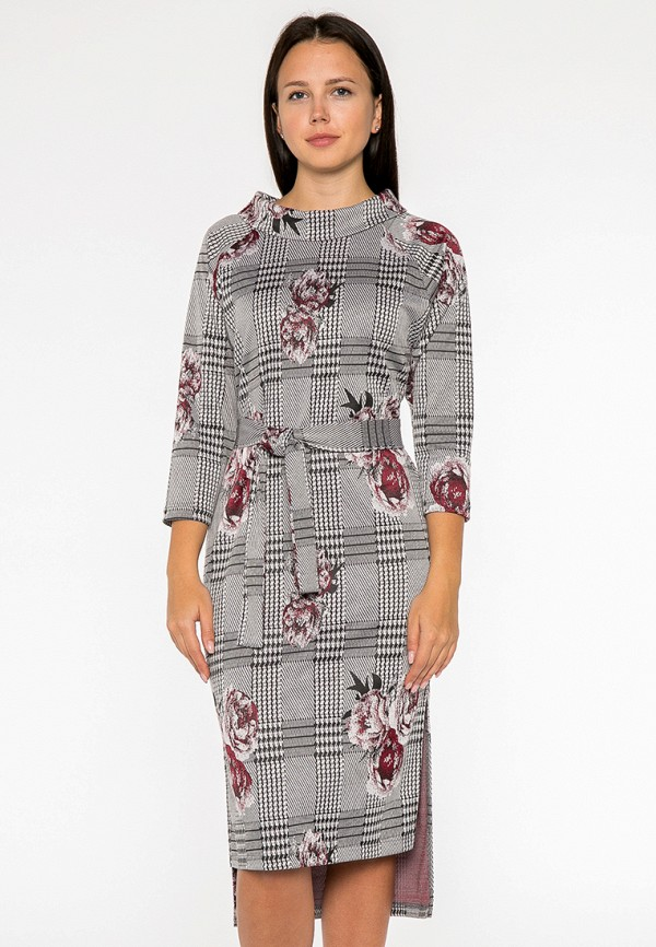 женское платье миди mankato, серое