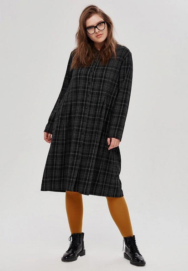 женское повседневные платье w&b, серое