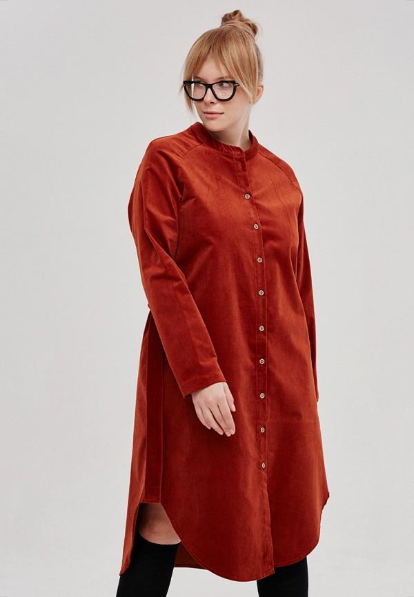 женское повседневные платье lessismore, коричневое