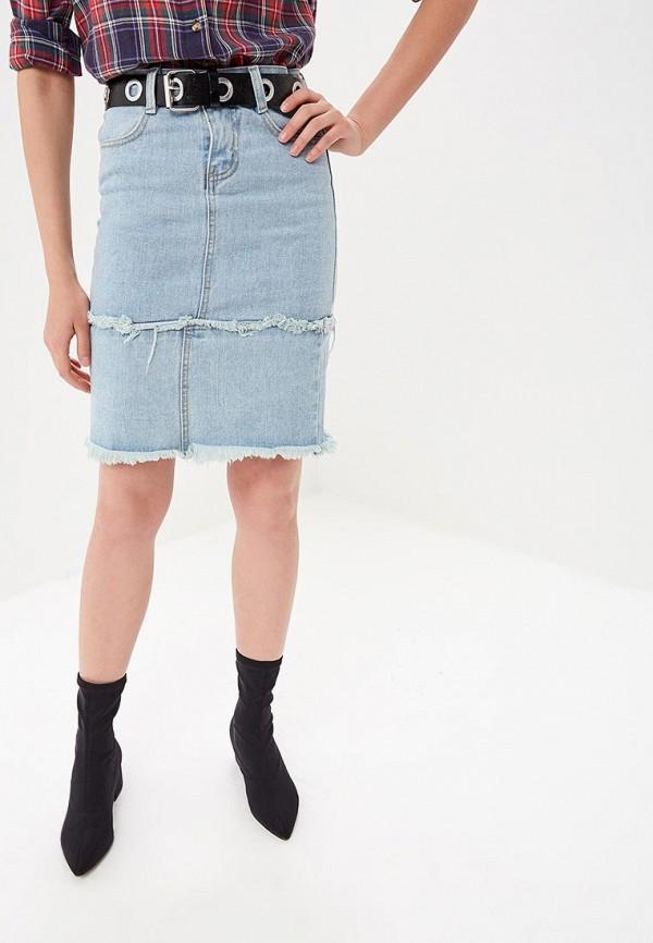 женская джинсовые юбка katomi, голубая