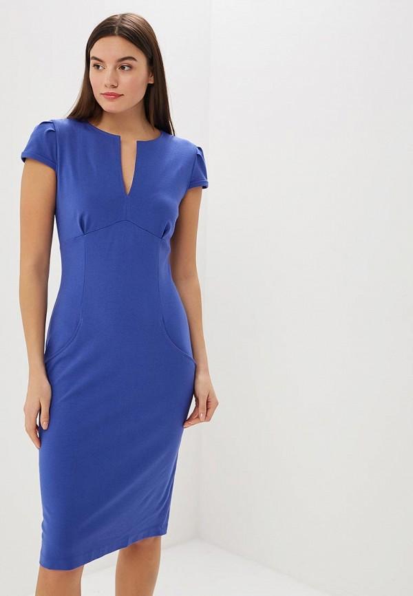женское платье-футляр ruxara, синее