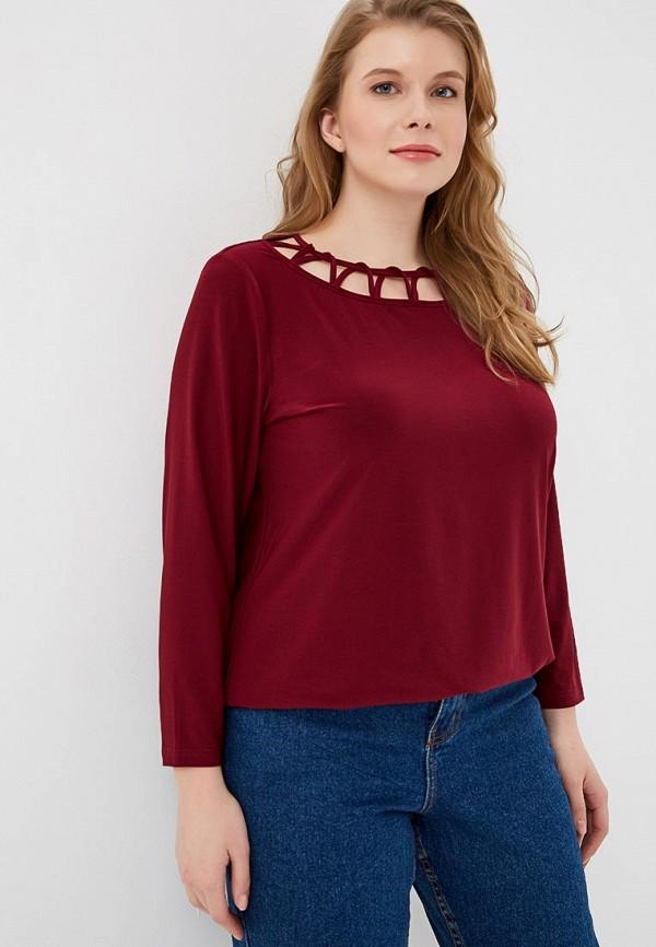 женская блузка dream world, бордовая