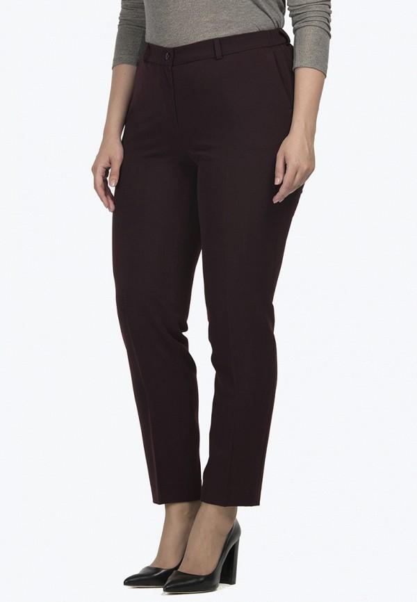 женские классические брюки modress, бордовые