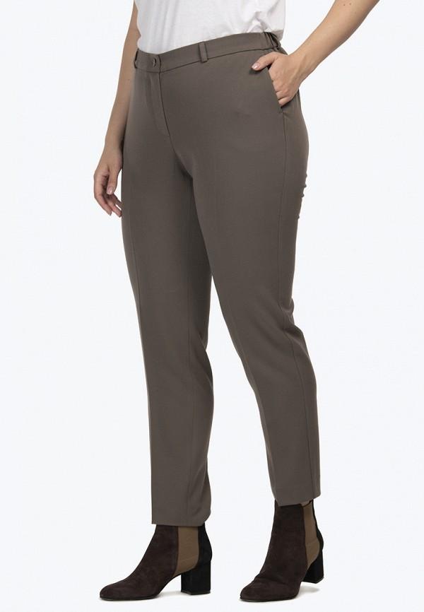 женские классические брюки modress, коричневые
