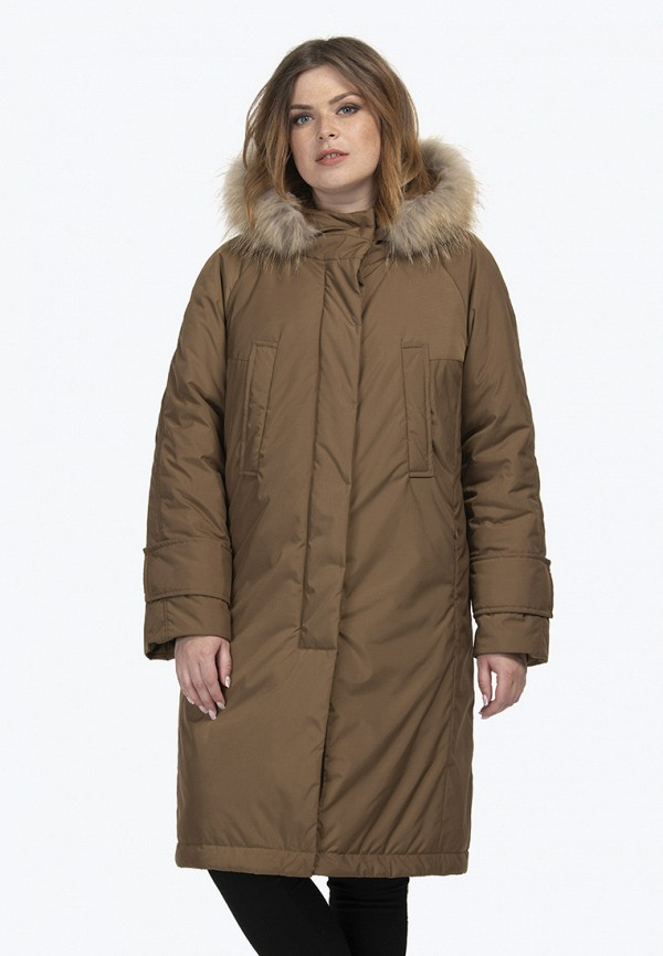 женская куртка modress, коричневая