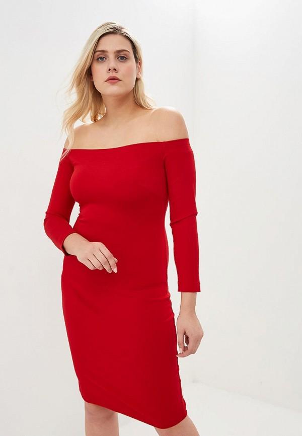 женское повседневные платье ruxara, красное