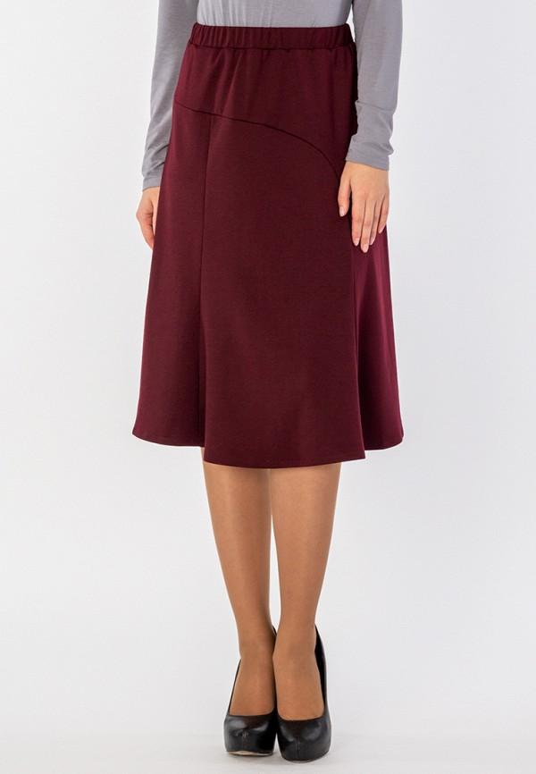 женская прямые юбка s&a style, бордовая
