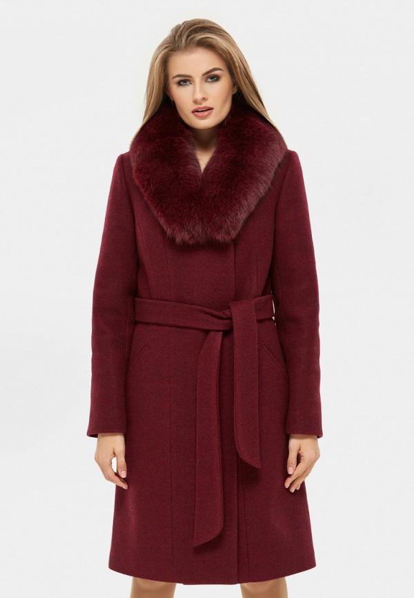 женское пальто danna, бордовое