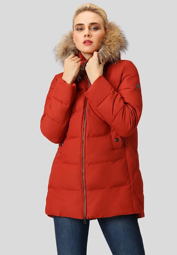 женская куртка finn flare, розовая
