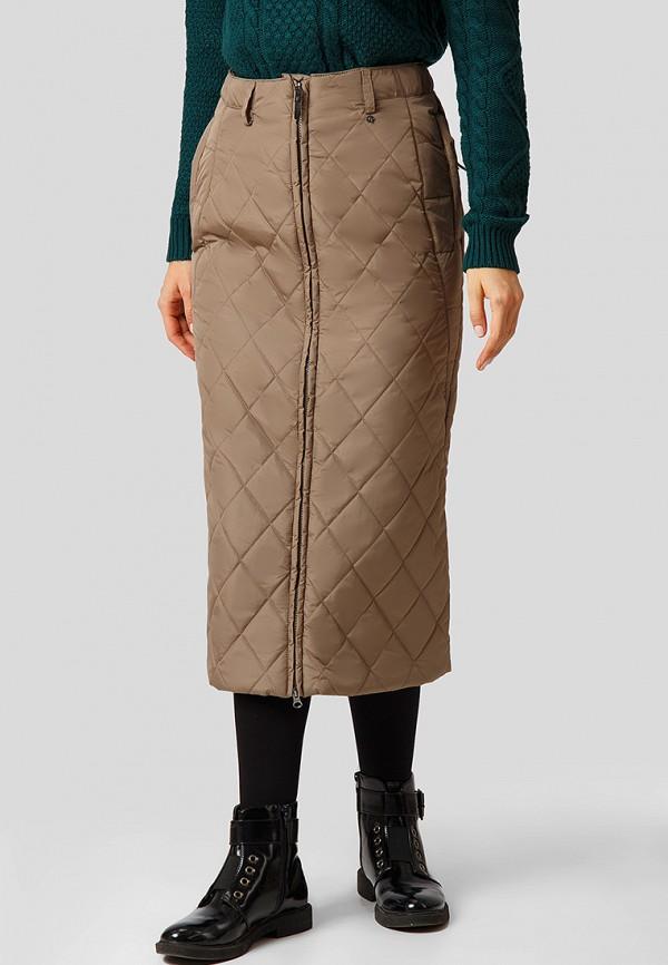женская прямые юбка finn flare, коричневая