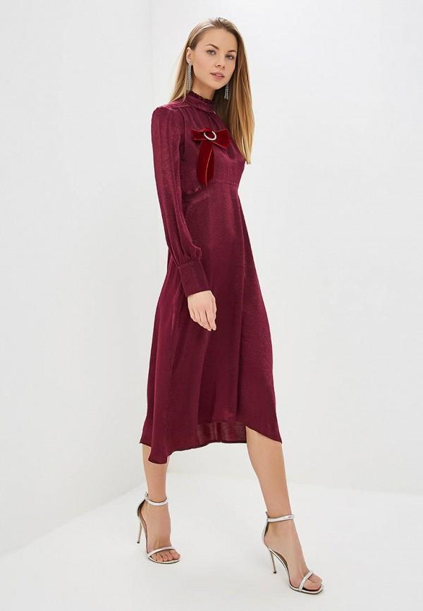 женское вечерние платье villagi, бордовое