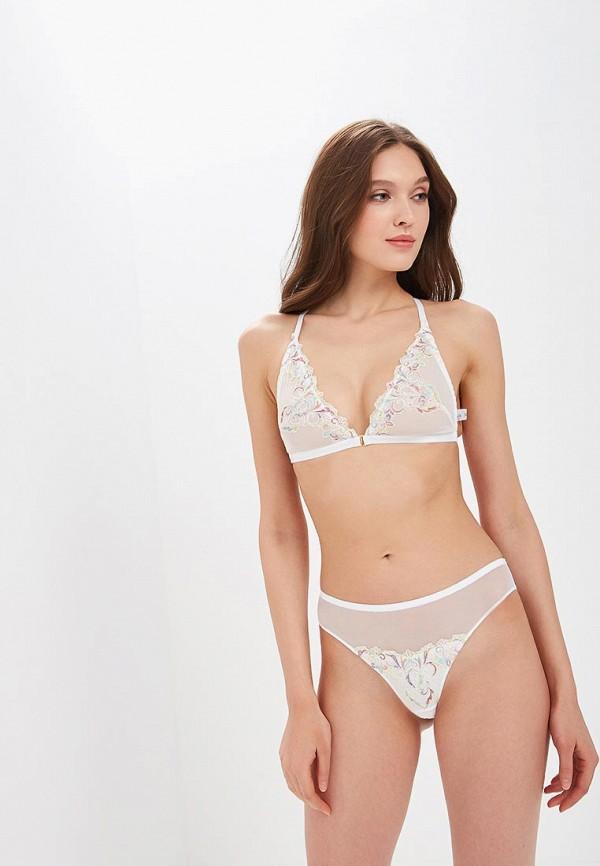 Трусы LA DEA lingerie & homewear LA DEA lingerie & homewear MP002XW1HJ3C sexy white lace hem lingerie with no falsies