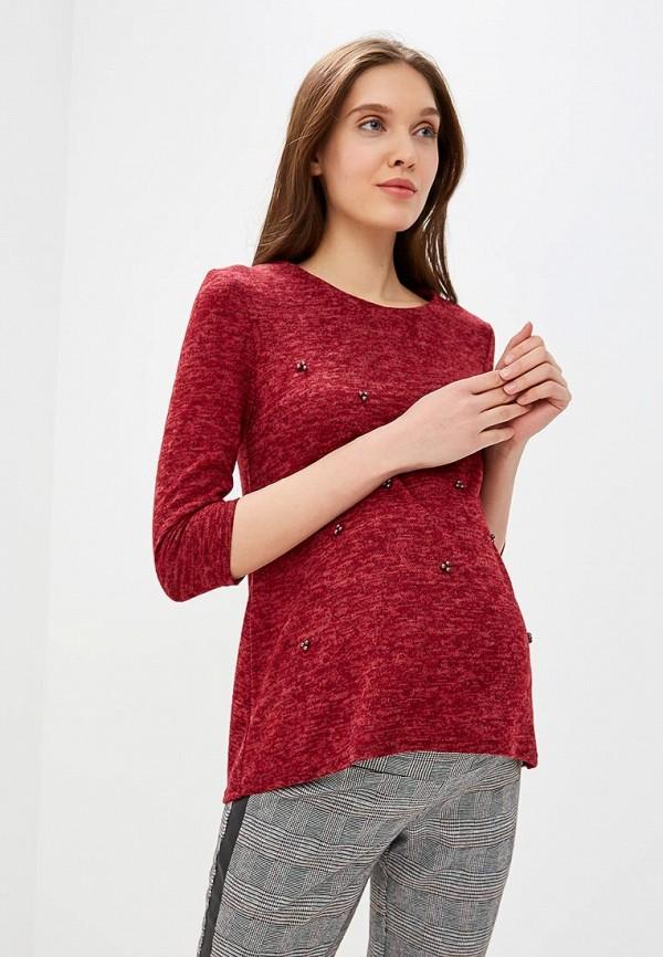женская блузка очаровательная адель, бордовая