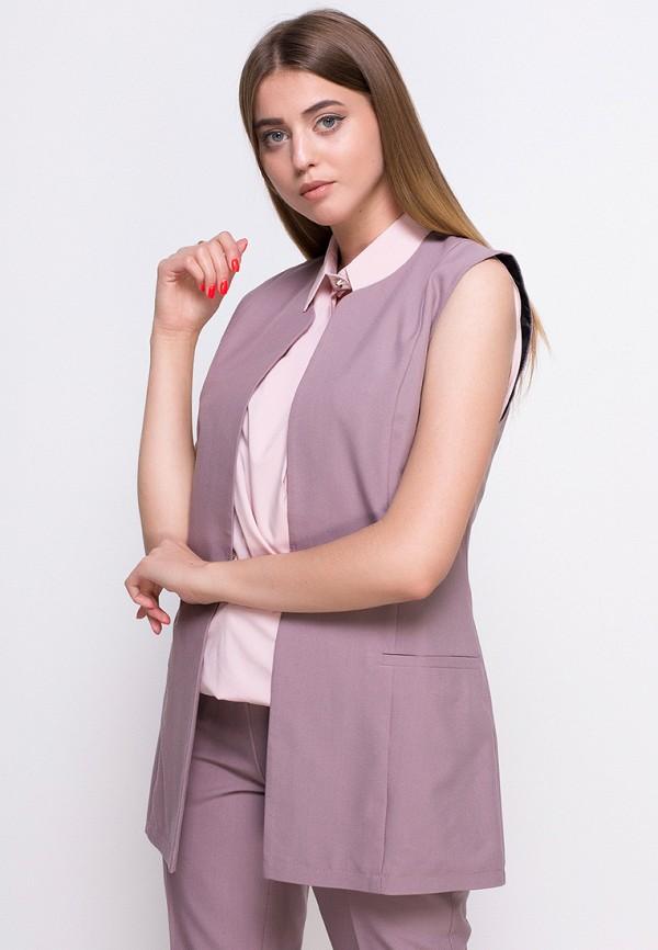 женский жилет zubrytskaya, розовый