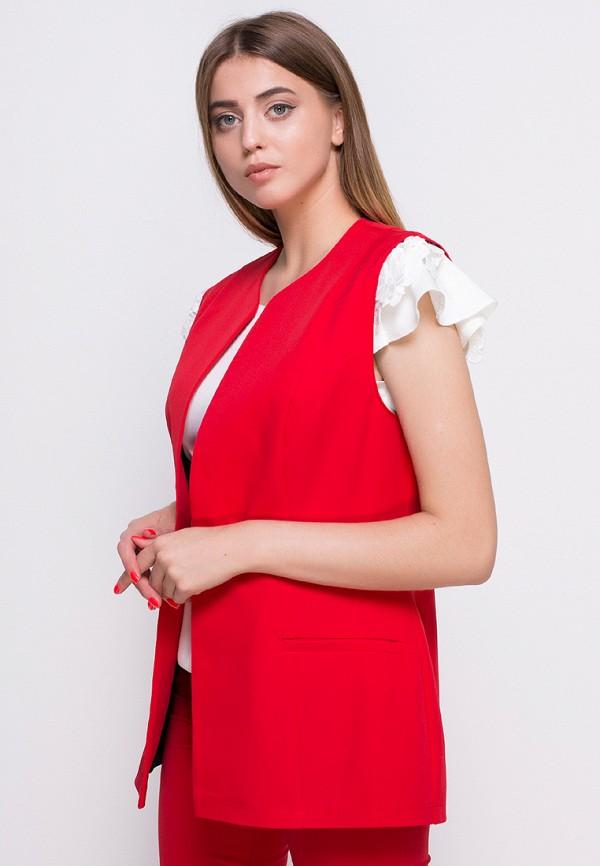 женский жилет zubrytskaya, красный