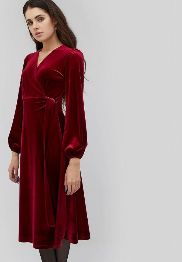 женское вечерние платье cardo, бордовое