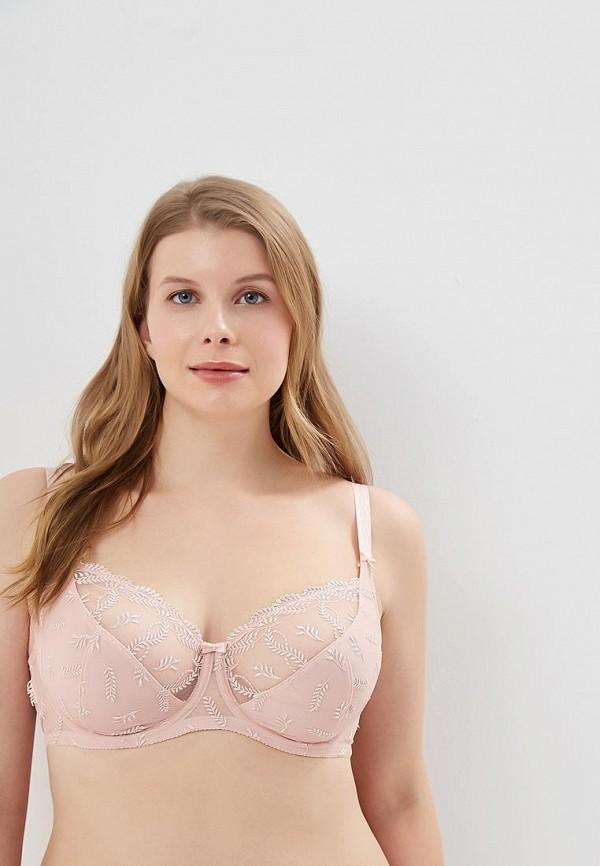 женский бюстгальтер на косточках conte elegant, розовый