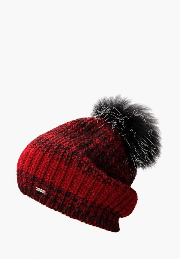 женская шапка finn flare, бордовая