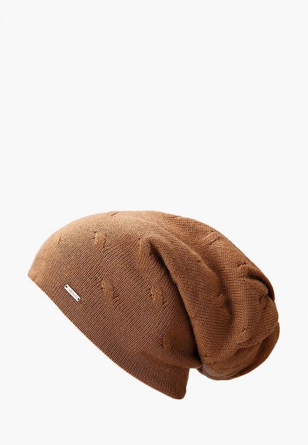 женская шапка finn flare, коричневая