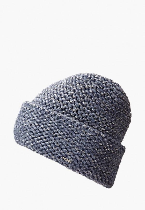 женская шапка finn flare, голубая