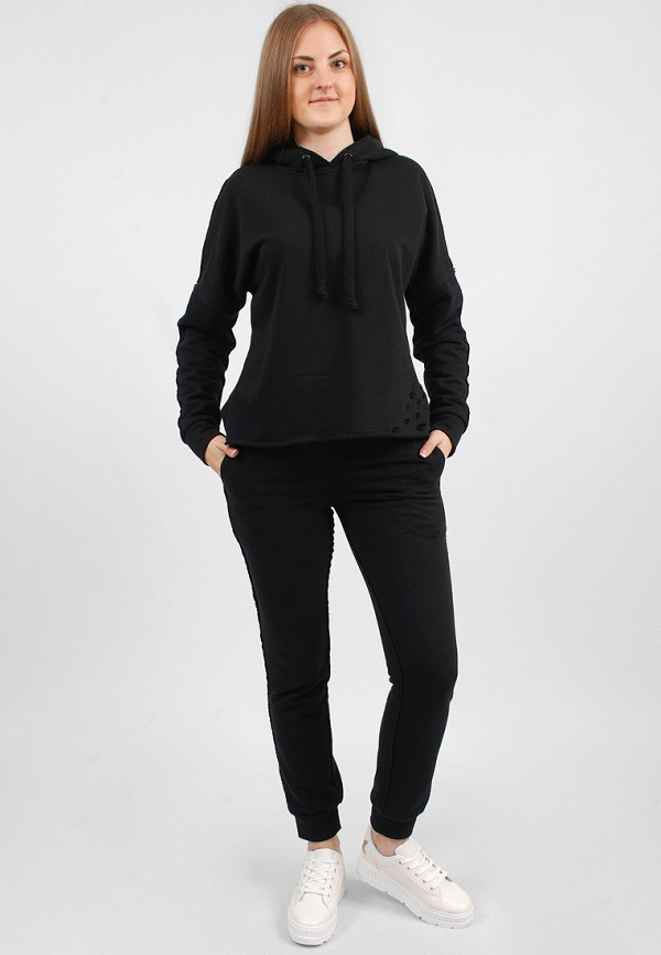 женский спортивные спортивный костюм sab, черный