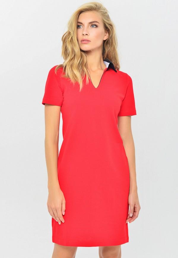 женское повседневные платье mondigo, красное