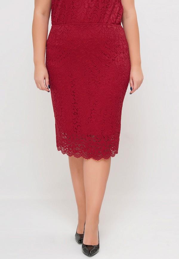 женская юбка limonti, красная