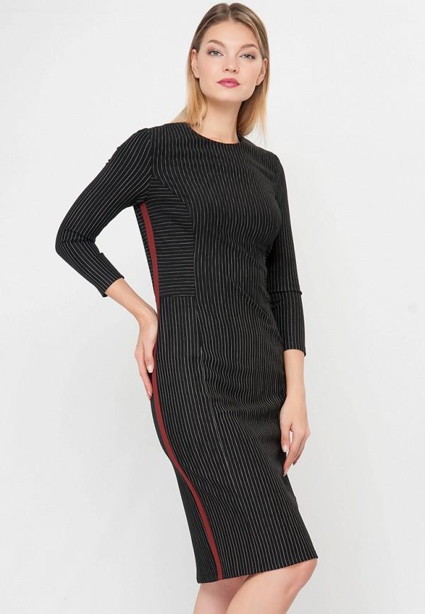 женское платье миди limonti, черное
