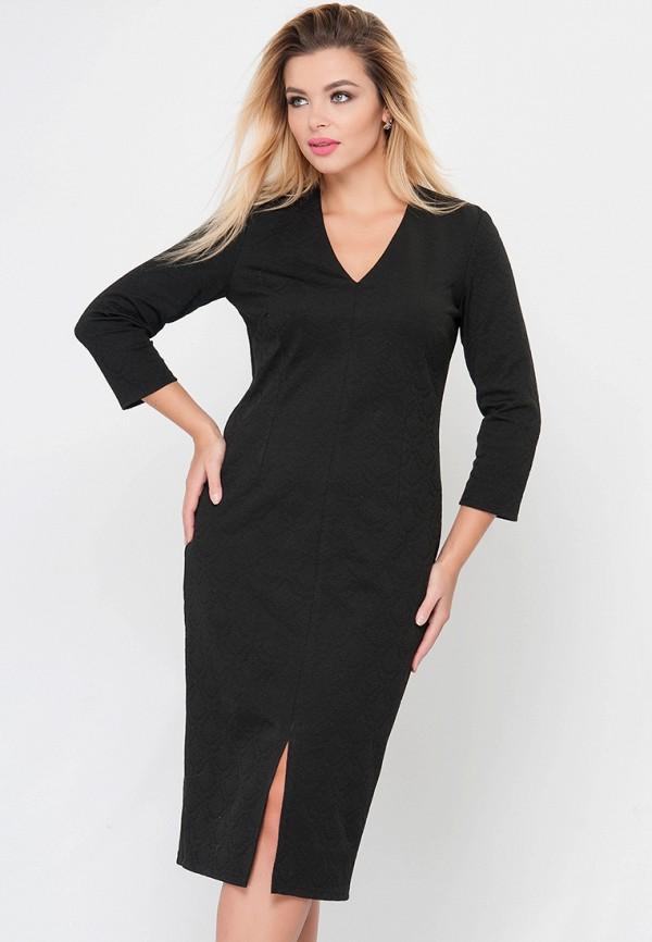 женское платье-футляр limonti, черное
