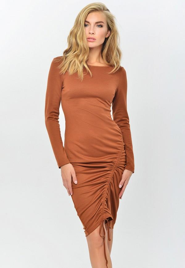 женское повседневные платье mondigo, коричневое