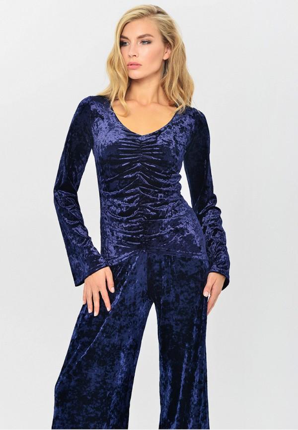 женская блузка mondigo, синяя
