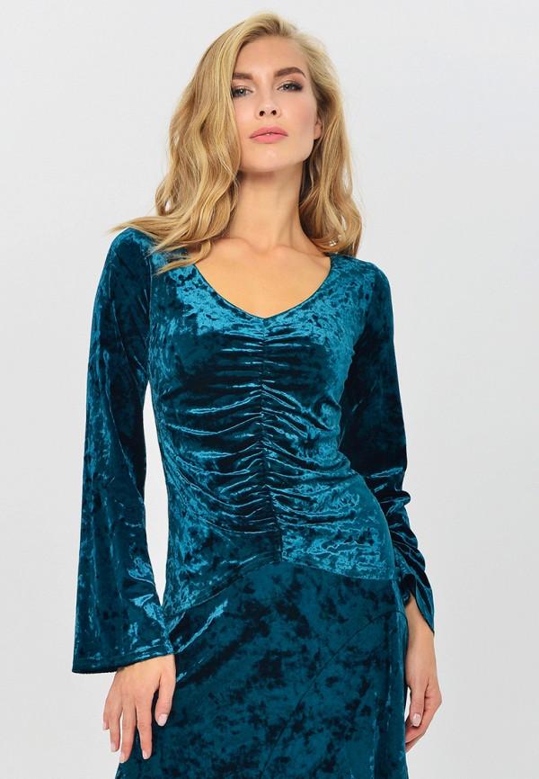 женская блузка mondigo, бирюзовая