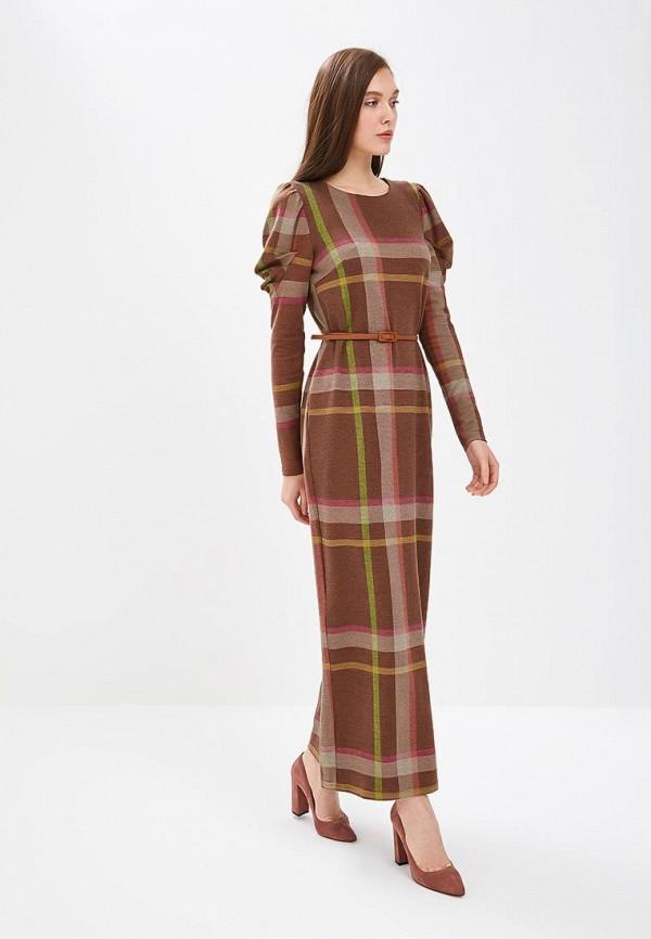 женское повседневные платье sahera rahmani, коричневое