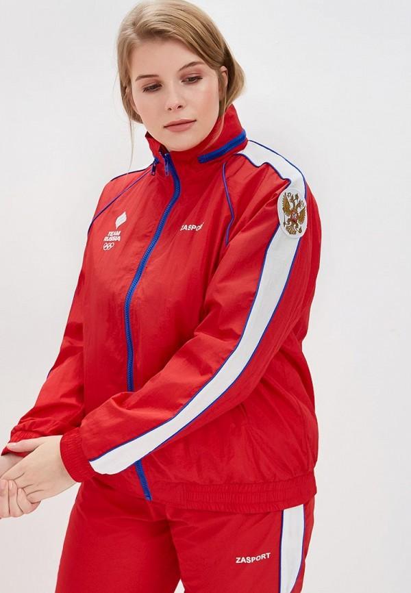 женская ветровка zasport, красная