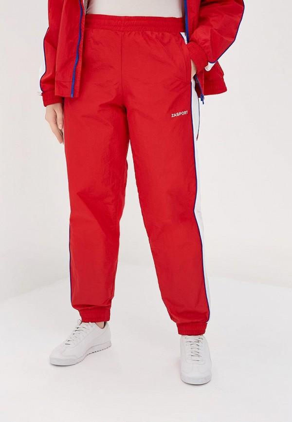 женские спортивные спортивные брюки zasport, красные