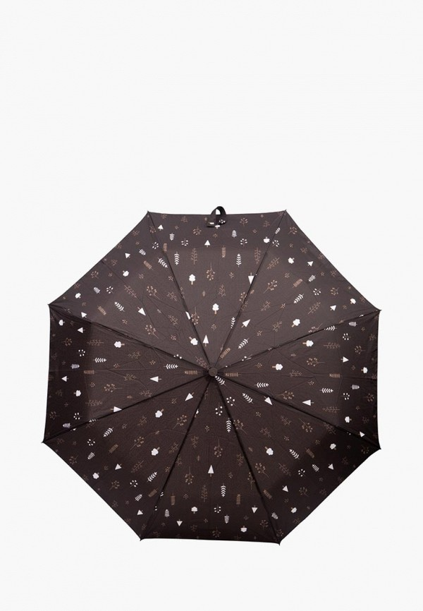 женский зонт labbra, коричневый