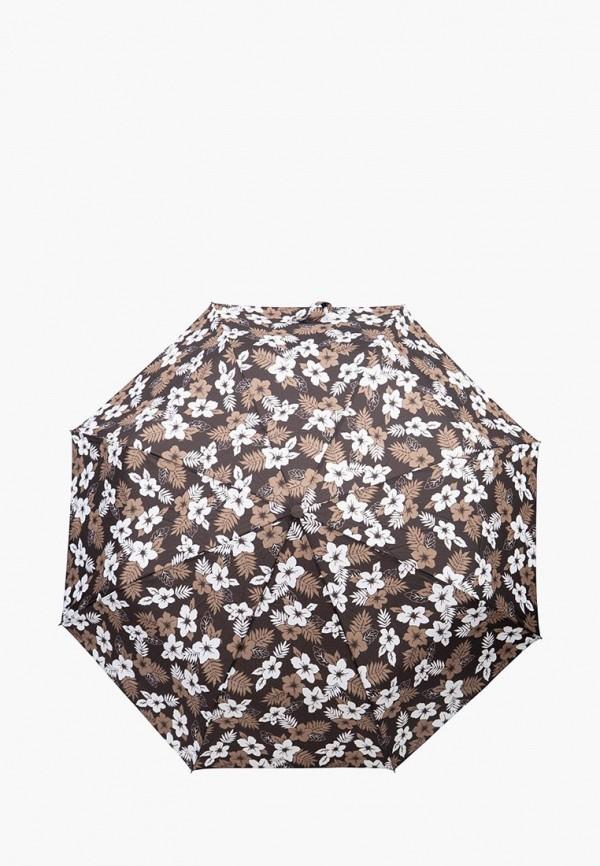 женский складные зонт labbra, коричневый