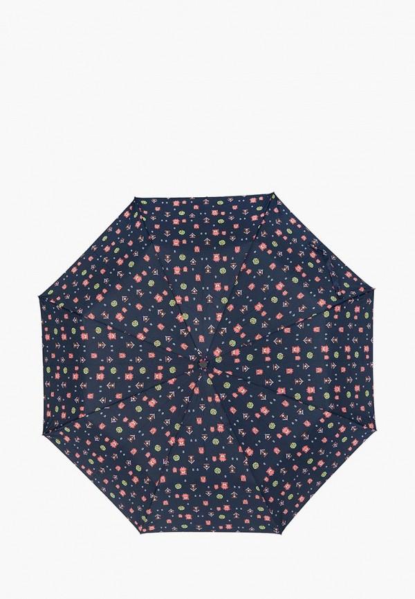 женский складные зонт labbra, черный