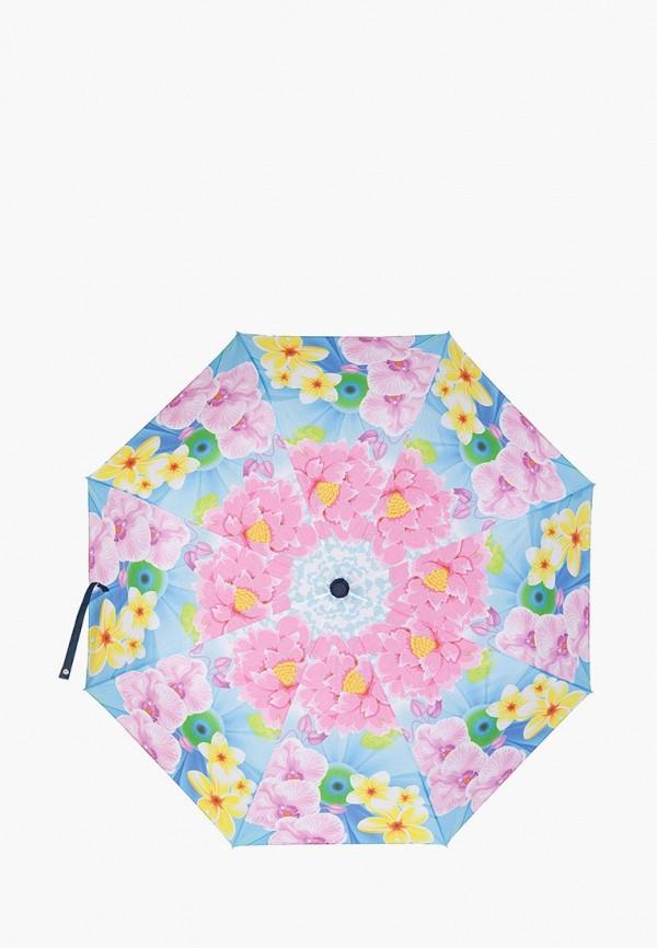 женский зонт labbra, голубой