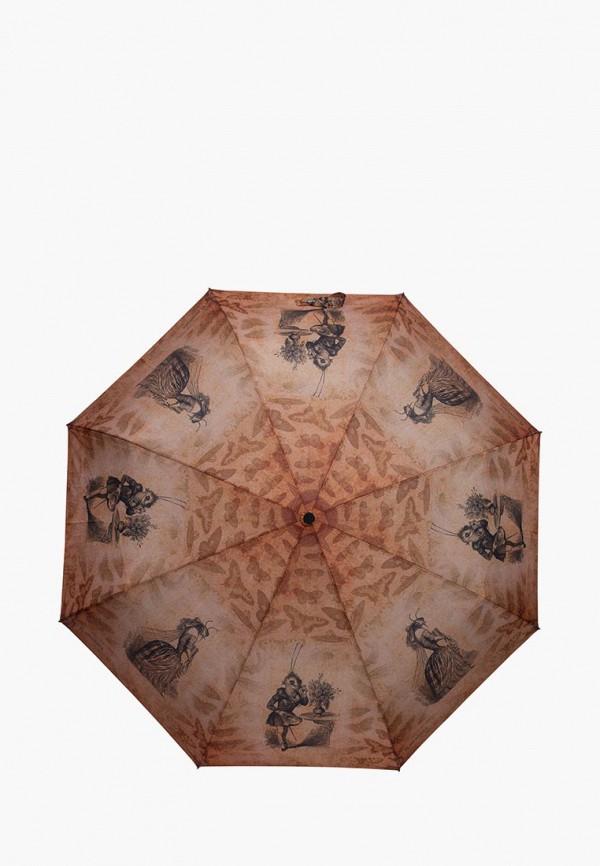 женский зонт eleganzza, коричневый