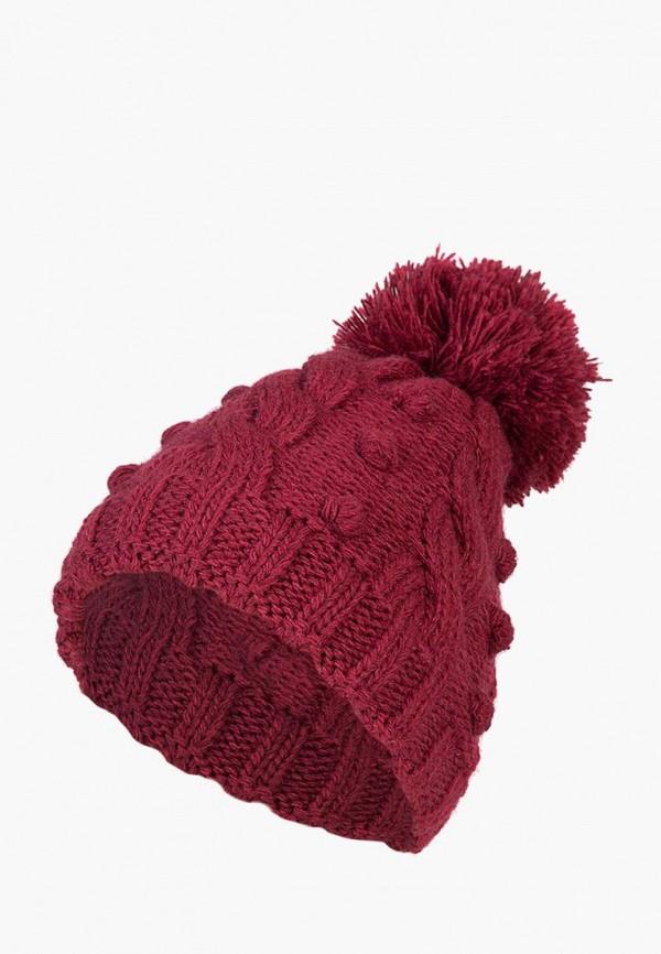 женская шапка labbra, бордовая