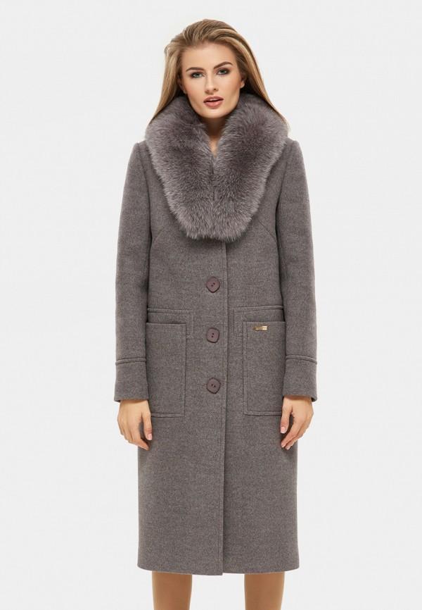 женское пальто danna, коричневое