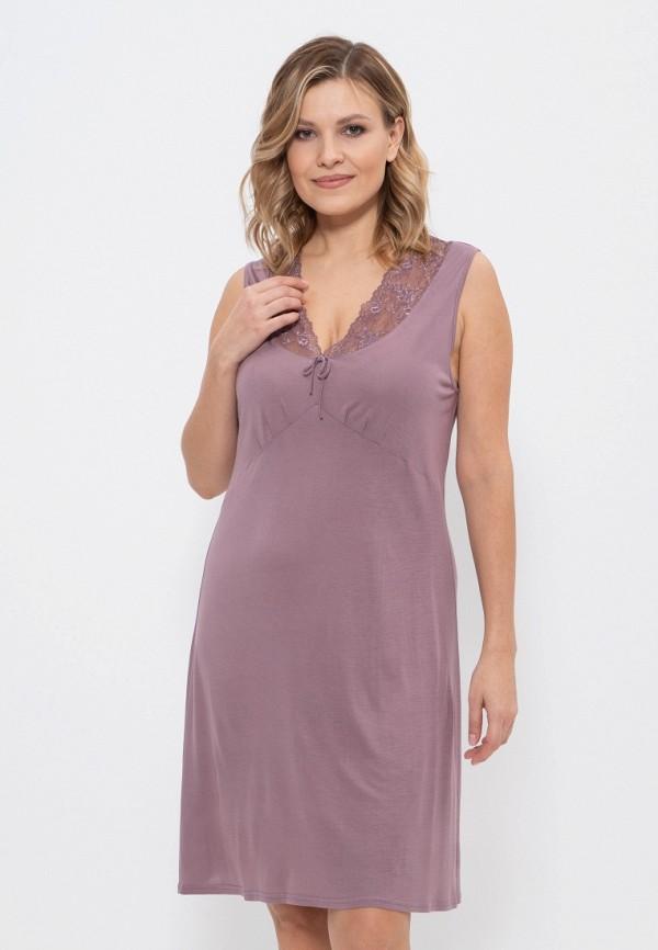 женские сорочка ночная cleo, фиолетовые