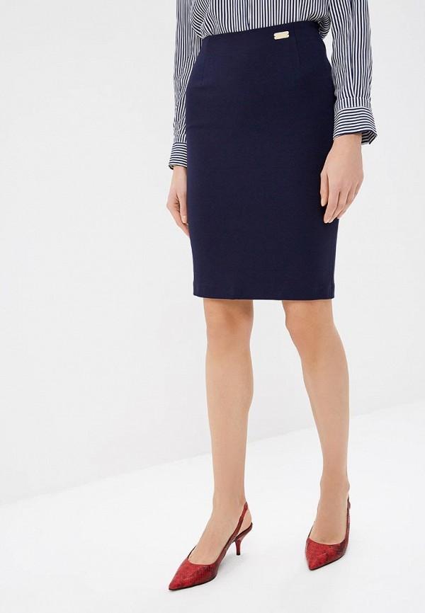 женская зауженные юбка royal elegance, синяя